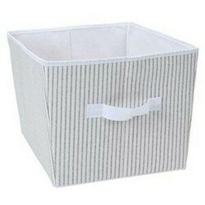 Úložný box 39 x 30 x 24 cm, sivo-biela