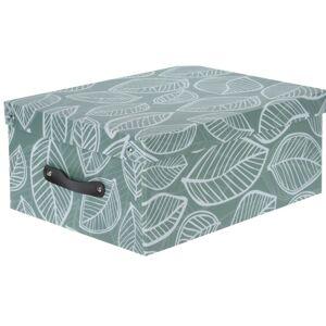 Úložný box Listy, zelená