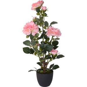 Umelá Stromčeková ruža v kvetináči ružová, 70 cm