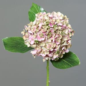 Umelá hortenzia svetloružová, 44 cm