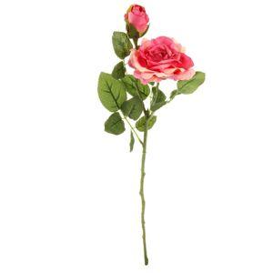 Umelá kvetina Ruža ružová, 46 cm