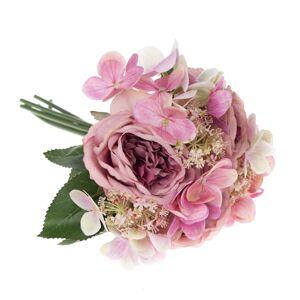 Umelá kytica ruží a hortenzií Sofia, 28 cm