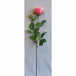 Umelá ruža ružová, 69 cm