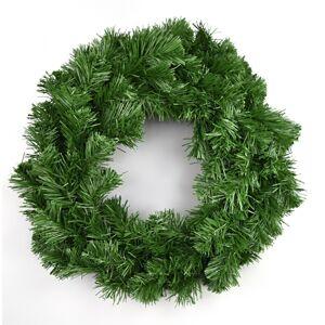 Umelý zelený veniec, 30 cm