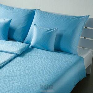 Veba Damaškové obliečky Geon Hadia koža modrá, 140 x 200 cm, 70 x 90 cm