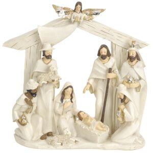 Vianočná dekorácia Betlehem hnedá, 22 x 7 x 22 cm