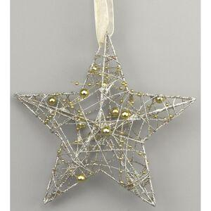Vianočná hviezda Hesperia zlatá, 15 cm