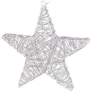Vianočná hviezda Savona strieborná, 30 LED