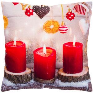 Forbyt Vianočná obliečka na vankúšik Výzdoba, 40 x 40 cm