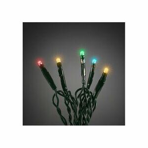 Vianočná svetelná reťaz 80 LED, 12 m, farebná