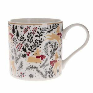 Vianočný porcelánový hrnček Mistletoe, 400 ml