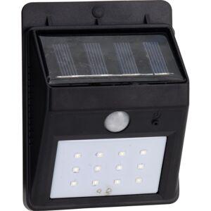 Vonkajšie nástenné solárne svietidlo so senzorom, čierna, 12,5 cm