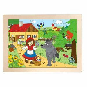 Woody Drevené puzzle Červená čiapočka