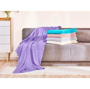 Bavlnená deka Dormeo Terry, 130x190 cm, fialová